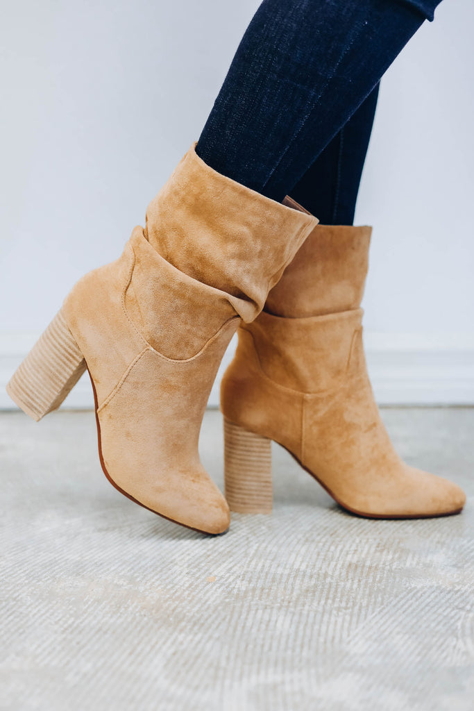 Toffee Slouch Bootie