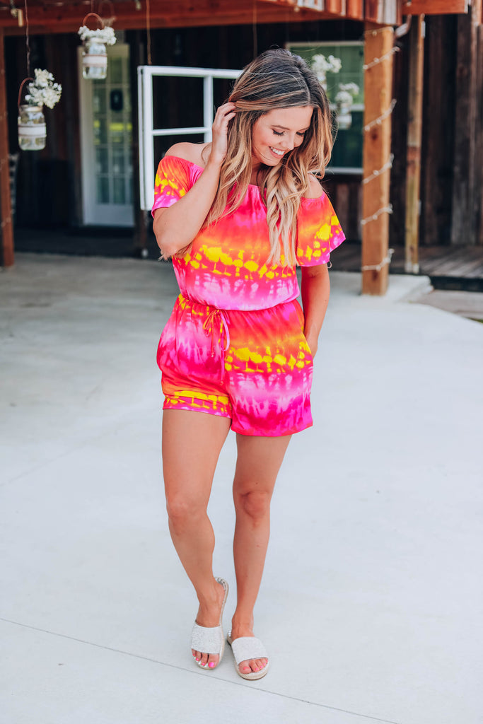 Morning Sky Tie Dye Romper