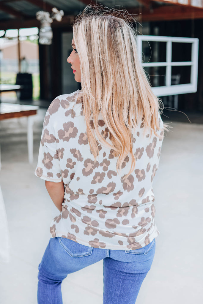 Cuddly Cheetah Top - Ivory