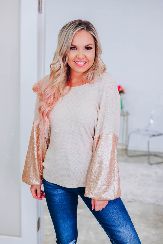 Show Me Love Sequin Top