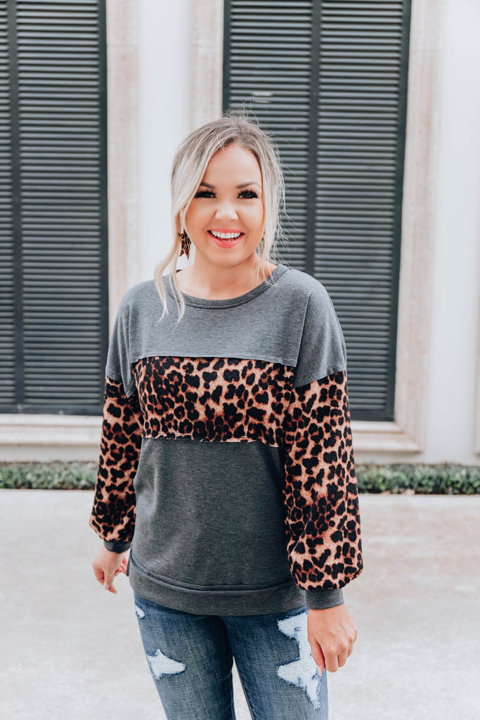 Banded Leopard Top