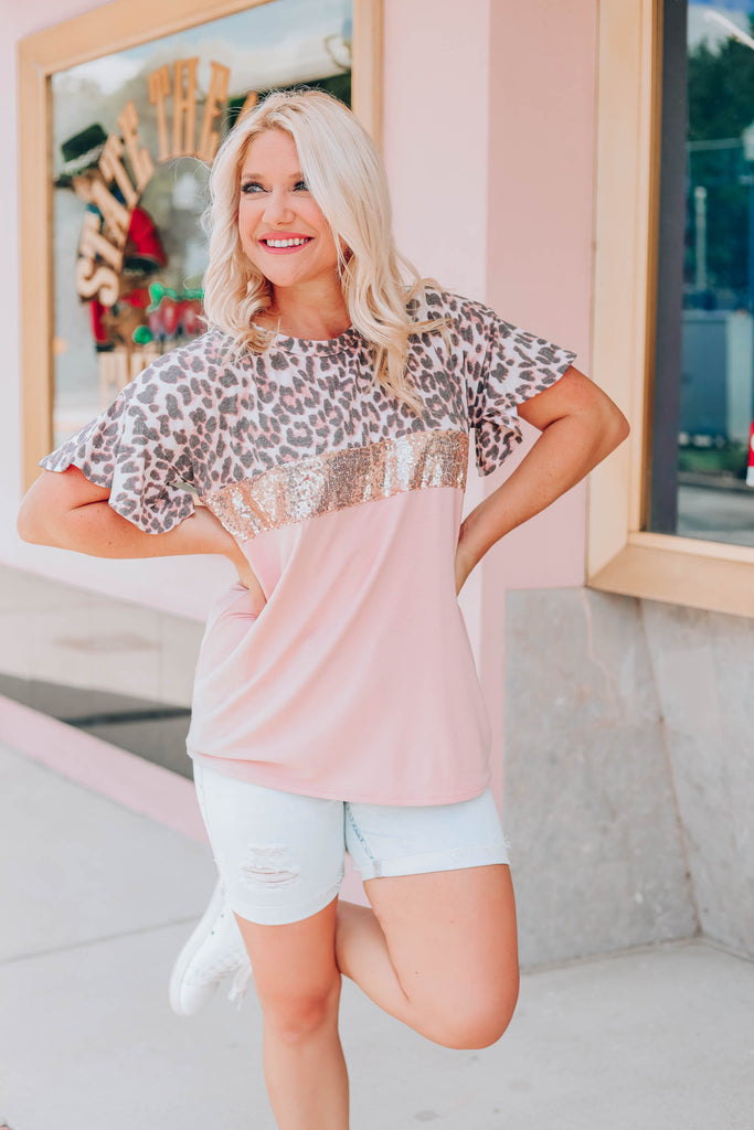 Let Loose Color Block Top