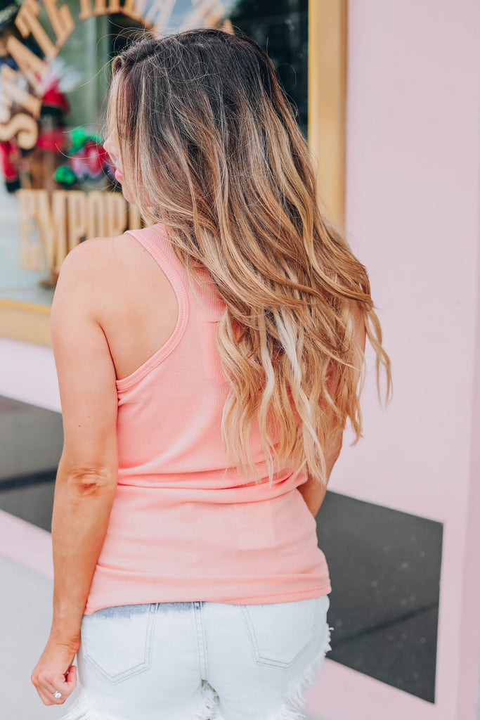 Simply Unique Racerback Tank - Coral