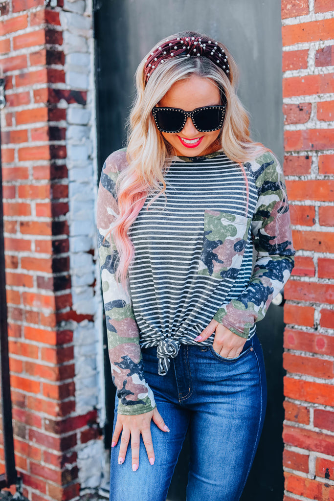Look To You Camo Top