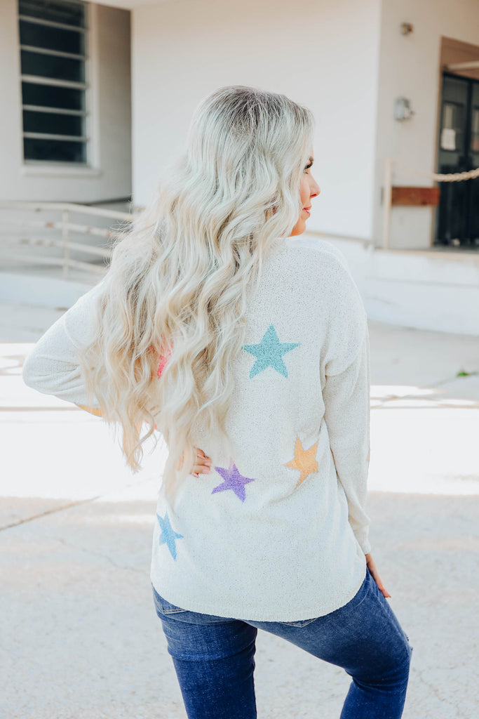 Touch The Stars Pastel Sweater S/M-2X/3X
