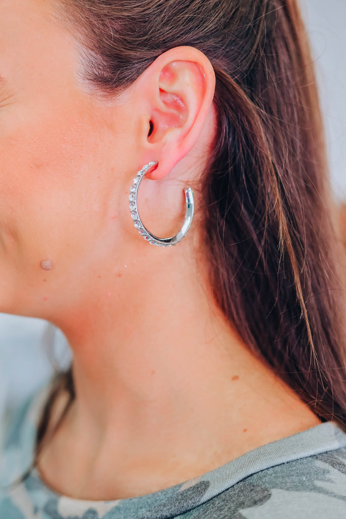 Want This Hoop Earrings - Silver