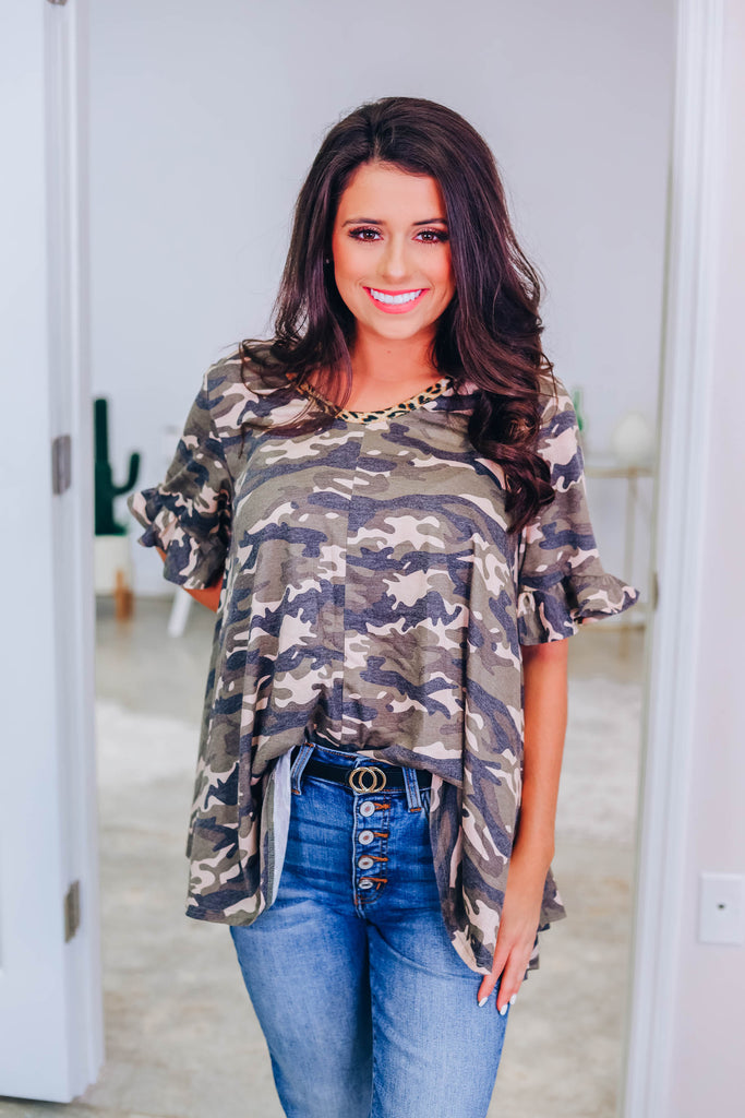 Change Your Mind Camo Top