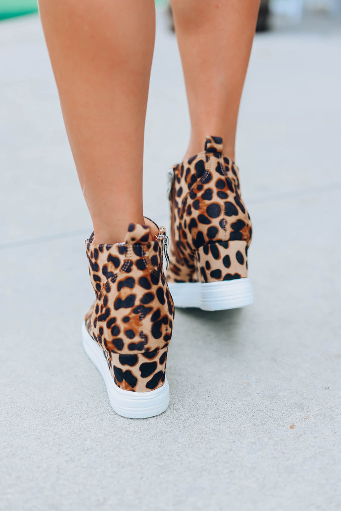 May Sneaker Wedge - Leopard