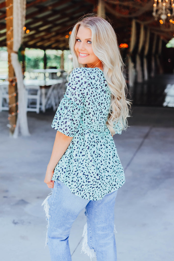 Minty Fresh Babydoll Top