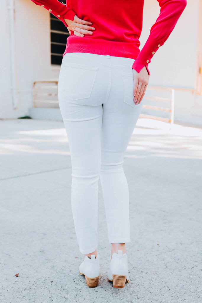 Whitley Mid Rise Skinny Jeans