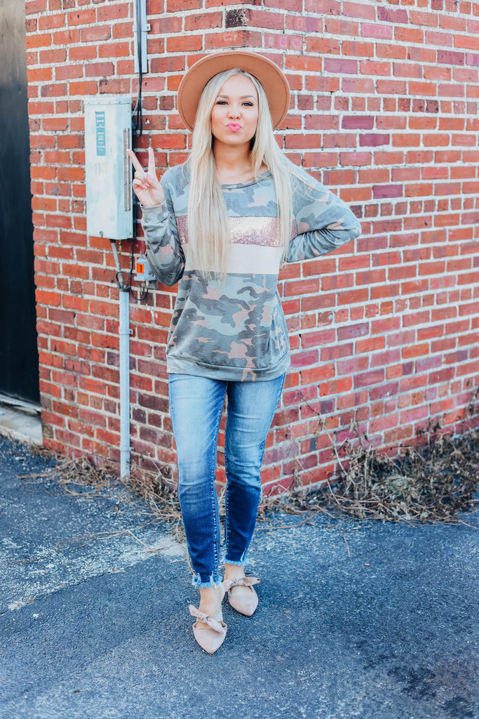 Don't Wait Up Camo Top