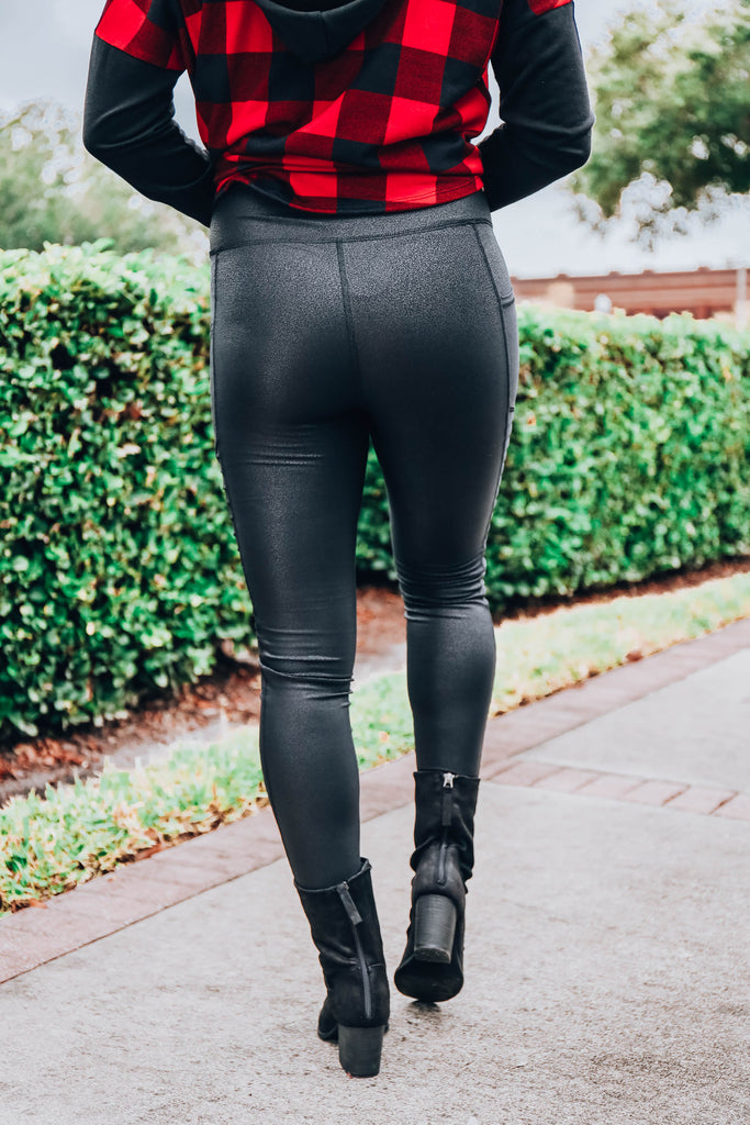 In Love By Now Motto Leggings - Black