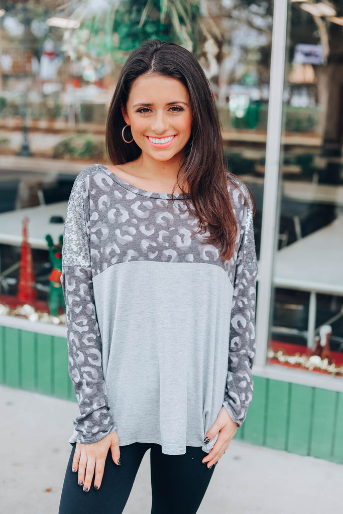 Won't Change My Heart Top - Heather Grey