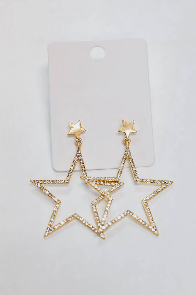 All The Stars Earrings - Gold