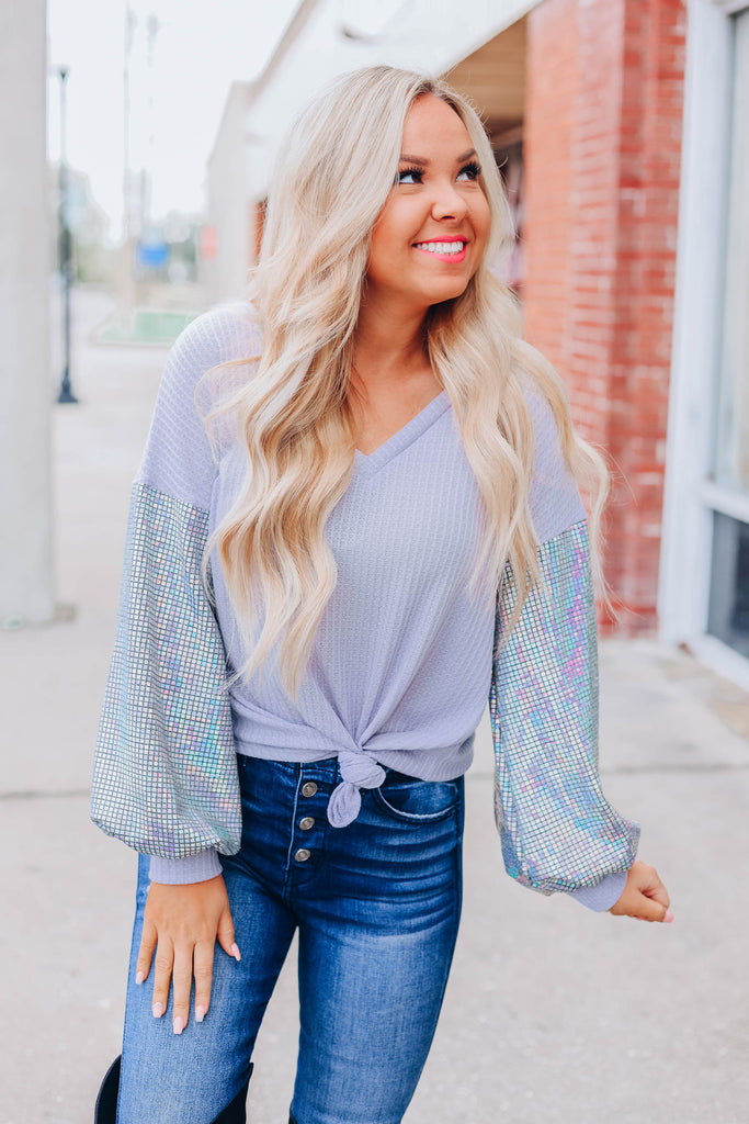 Disco Barbie Sequin Top - Lavender