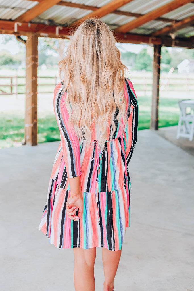 Fun Striped Casual Dress
