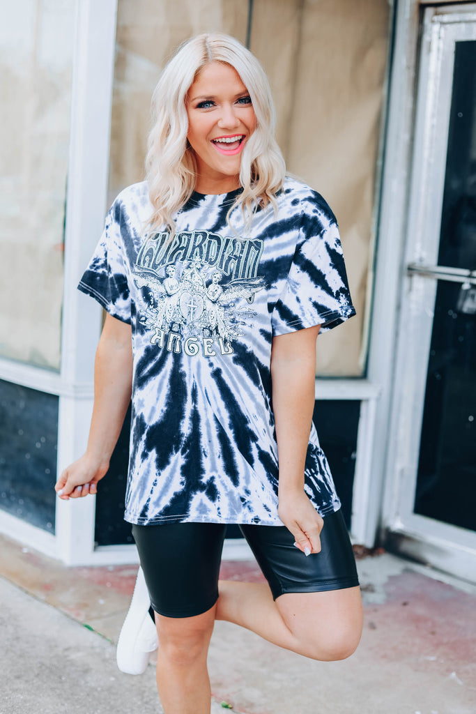 Tie Dye Graphic Angel Tee