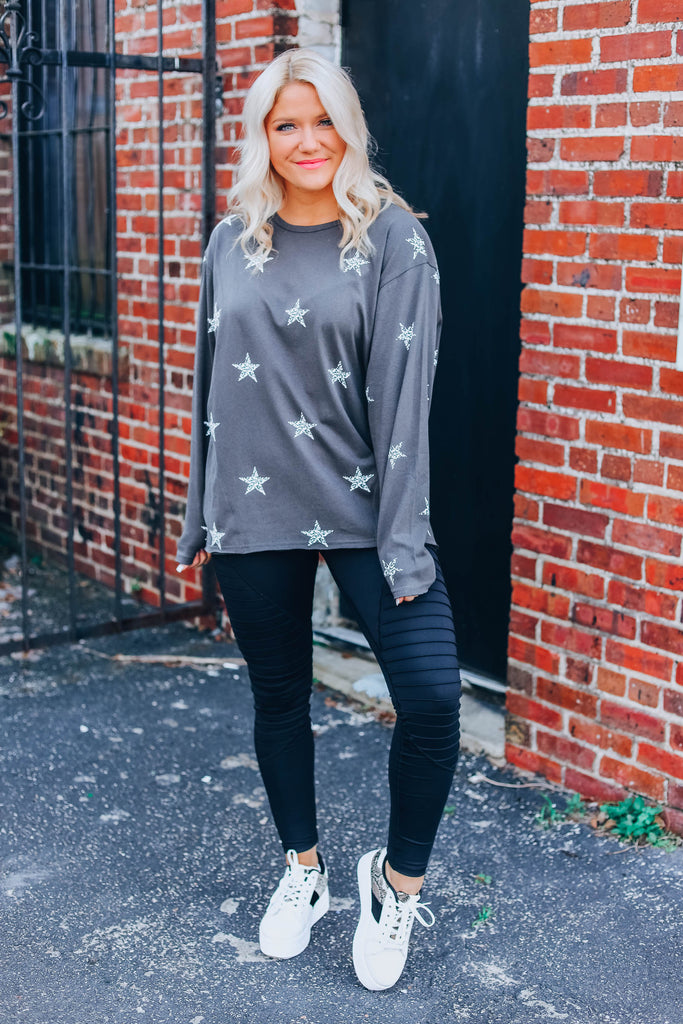 She'll Be A Star Pullover - Ash