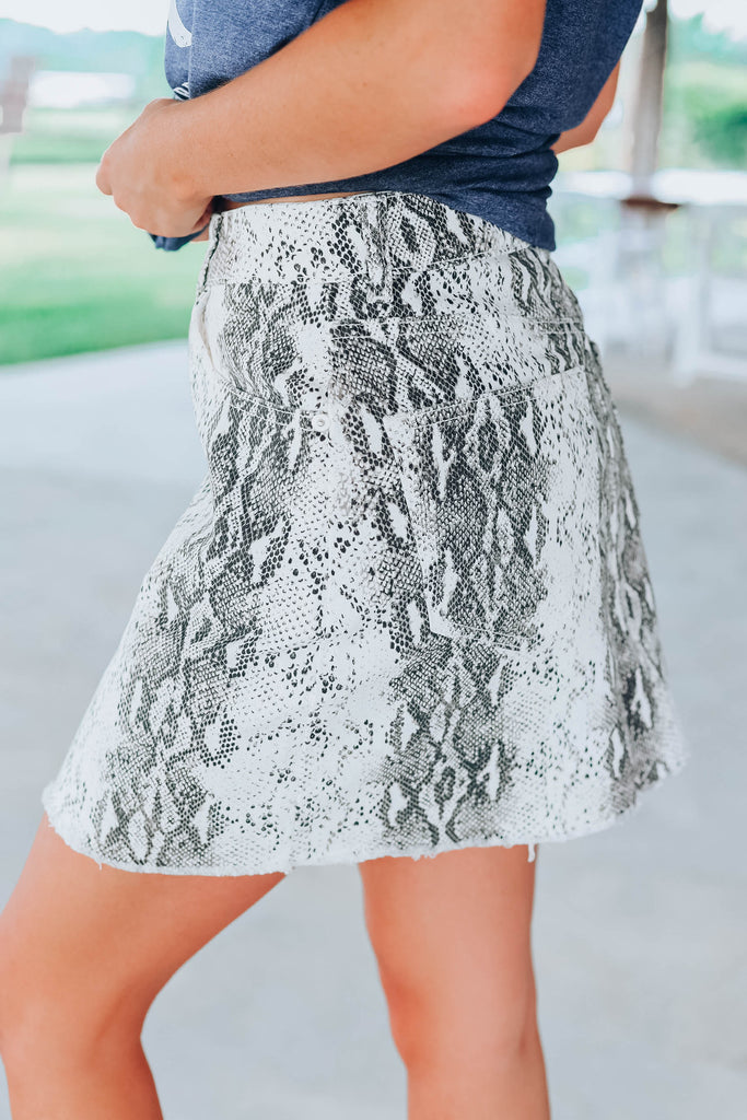 Dare To Venture Skirt - Snake