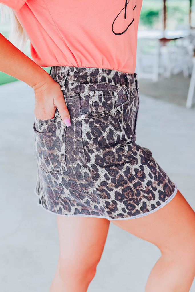 Dare To Venture Skirt - Leopard