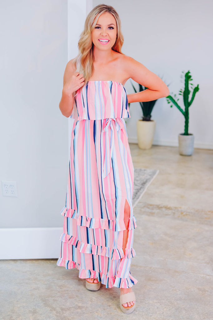 Love Her Now Striped Maxi Dress