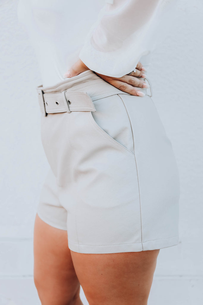 Santa Anna Faux Leather Shorts