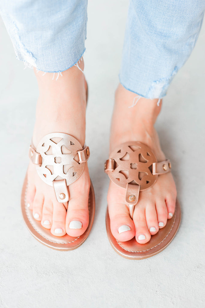 Lilly Sandals  - Rose Gold