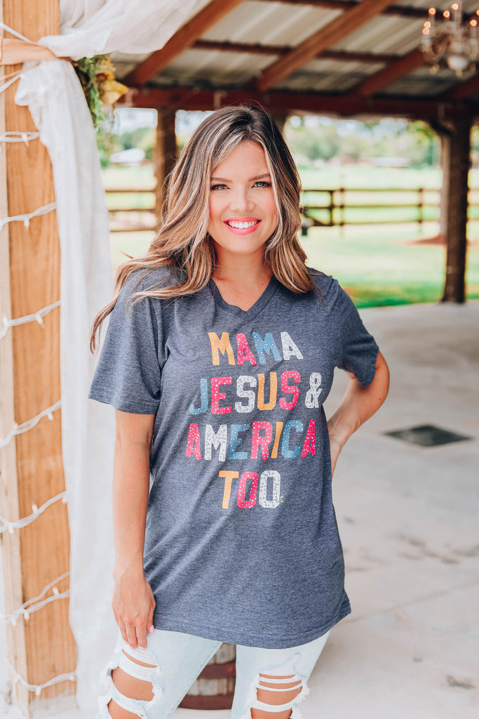 Mama Jesus and America..... Graphic Tee