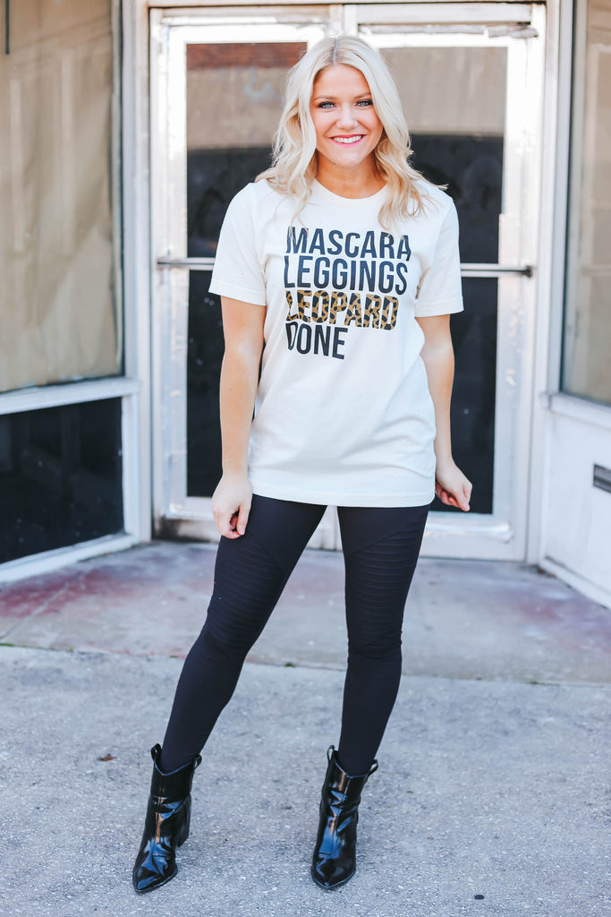 Mascara Leggings Leopard Done Graphic Tee