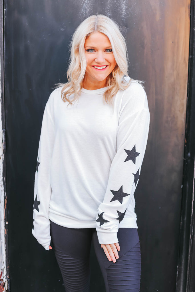 Reach For The Stars Pullover - White