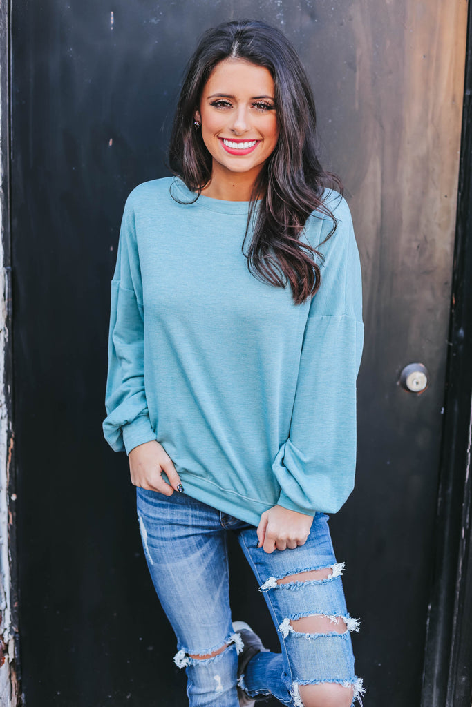 Marley Pullover - Dusty Blue