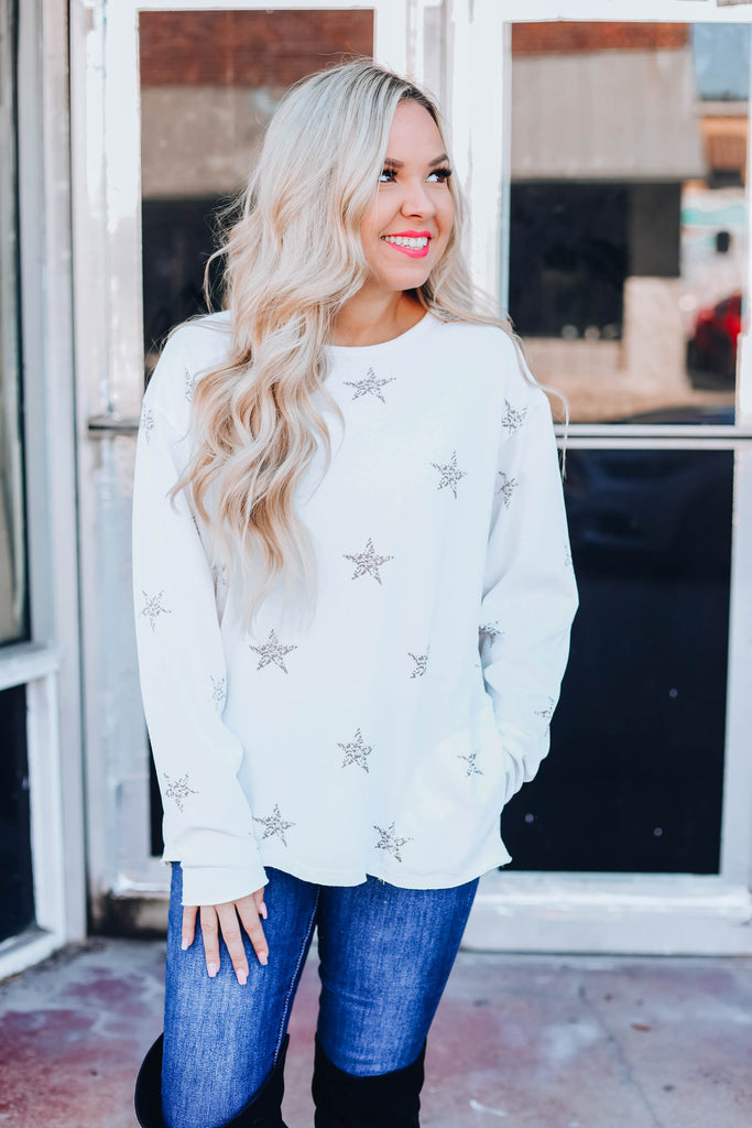 She'll Be A Star Pullover - Off White