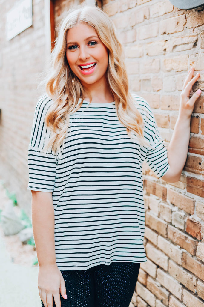 Cute And Casual Top - Ivory
