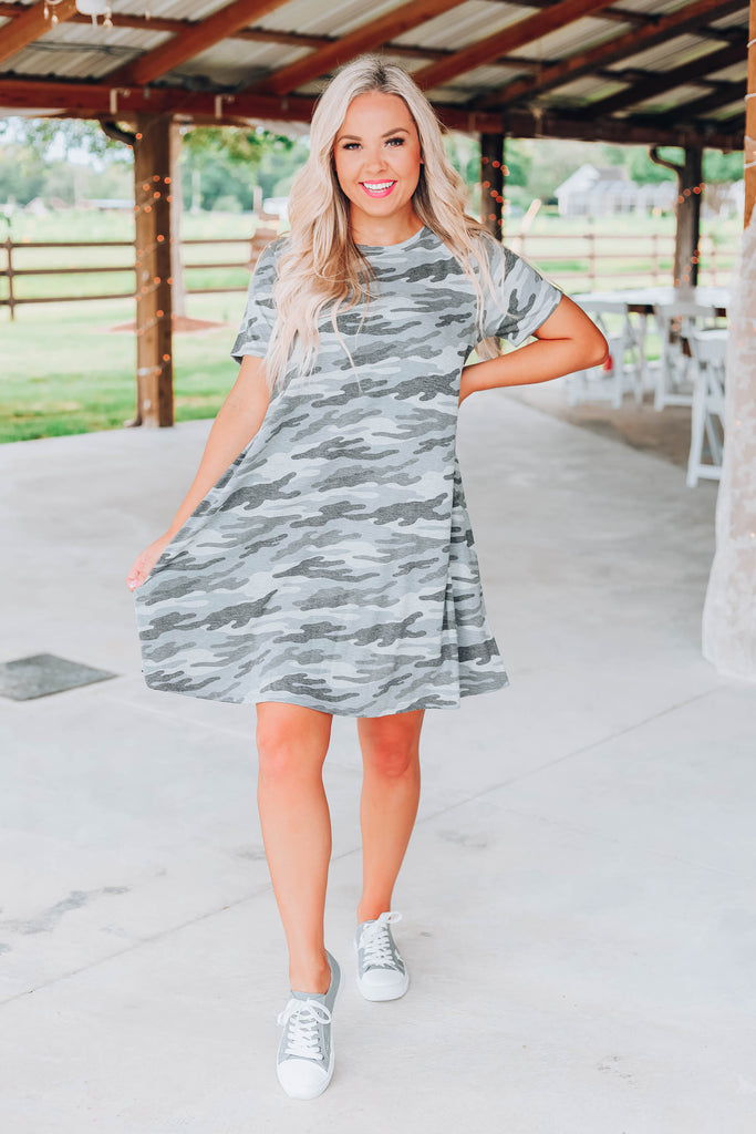 Love Camo T-Shirt Dress