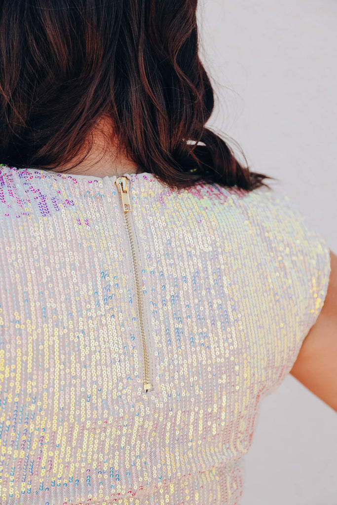 Cha-Ching Sequin Bodysuit - Opal