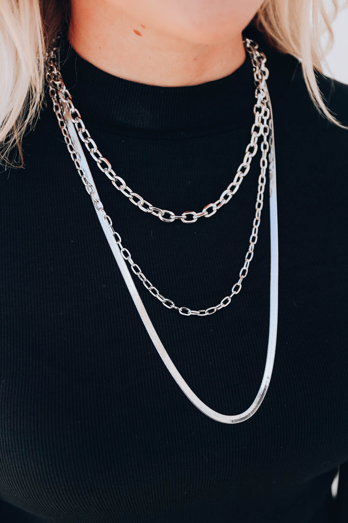 In The Moment Layered Necklace - Silver