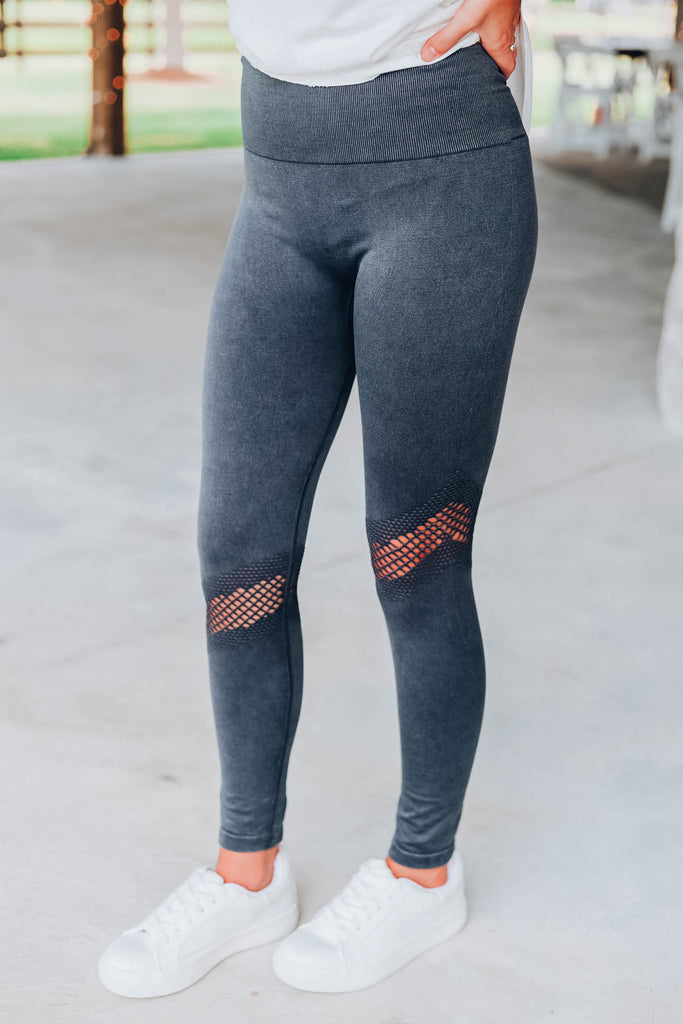 Lost In Leggings - Black