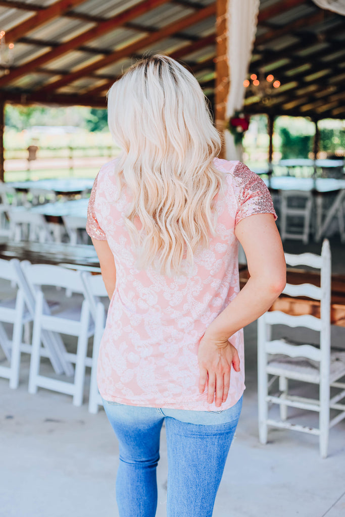 Everything Peachy Paisley Top