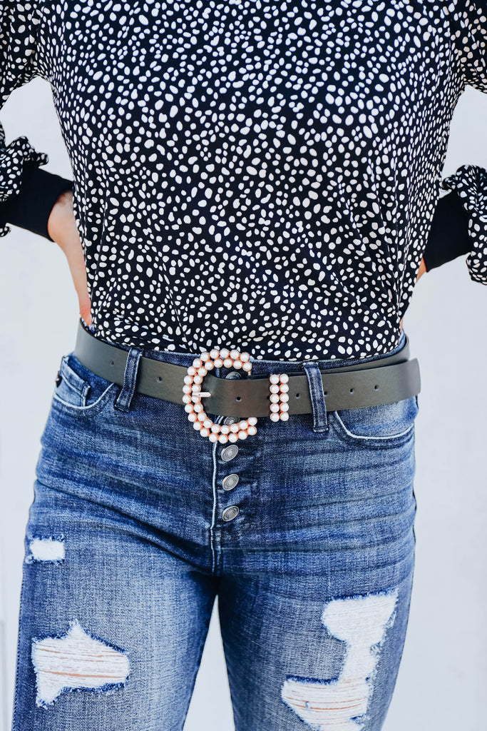 She's On Trend Belt - Black