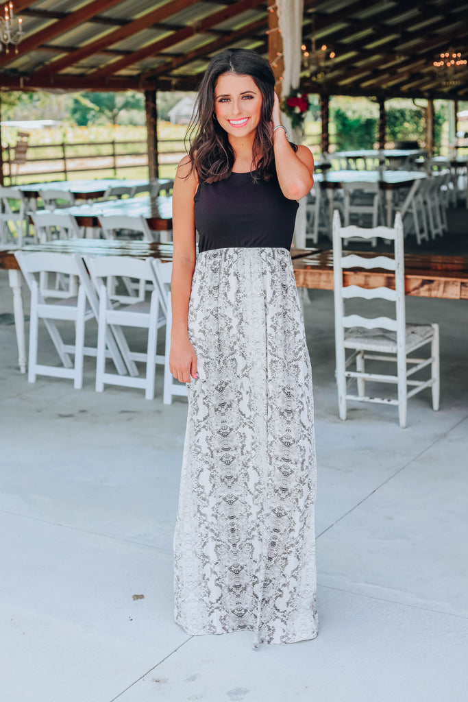 Serpentine Maxi Dress