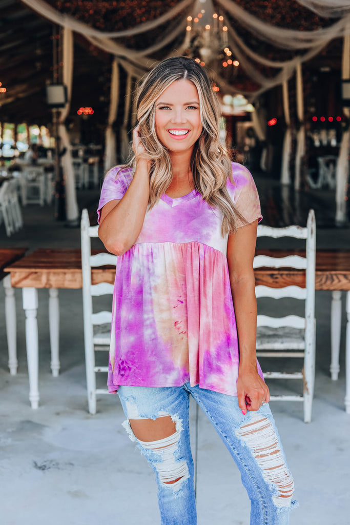 Tie Dye Craze Baby Doll Top - Imperfect
