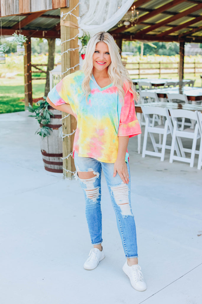 Color The World Neon Top