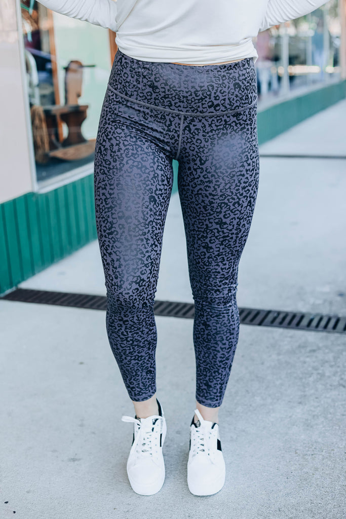 Leopard Foil High Waist Leggings