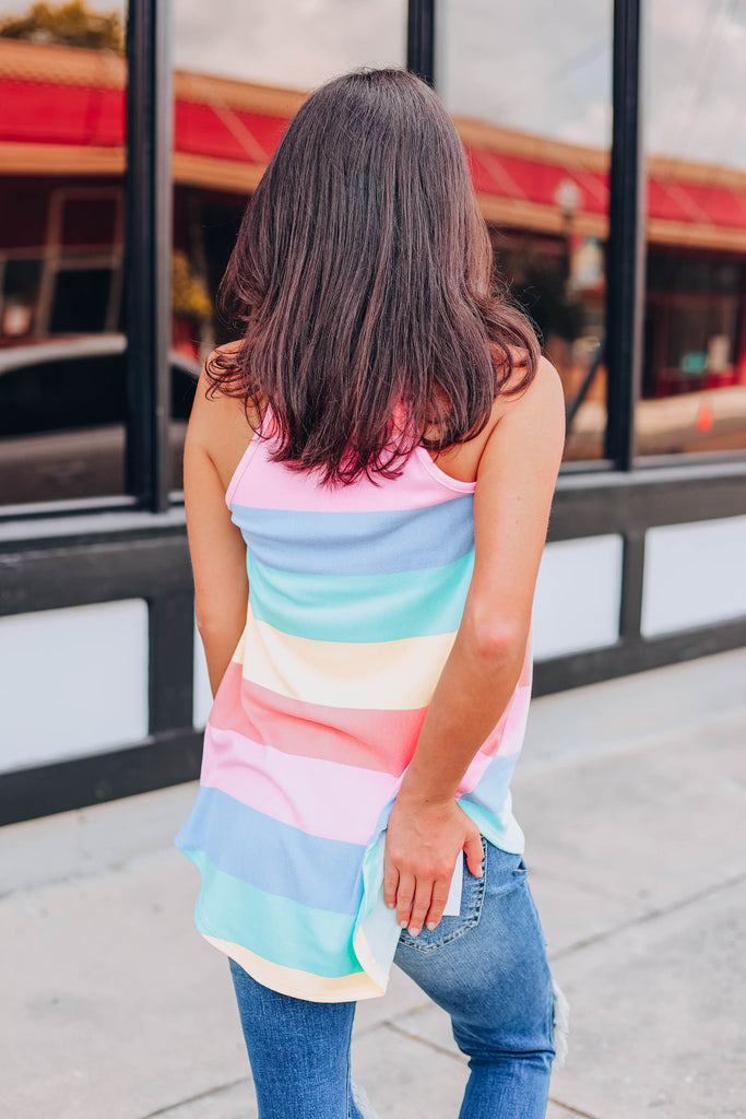 Pastel Passion Striped Top