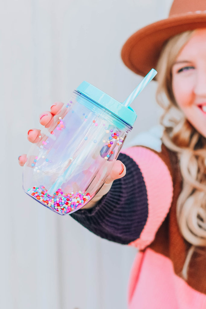 Mini Pom Pom Tumbler by Jadelynn Brooke - Mint