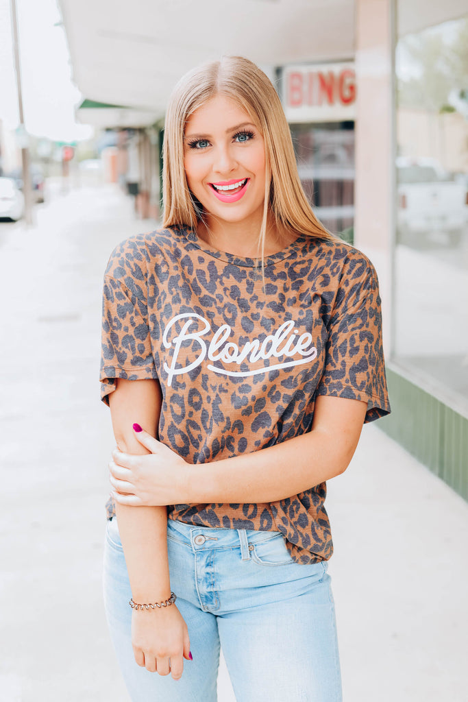 Blondie Leopard Graphic Tee
