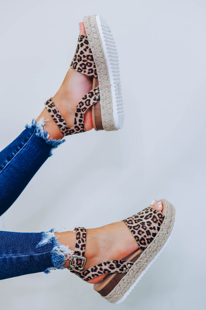Laila Leopard Wedge