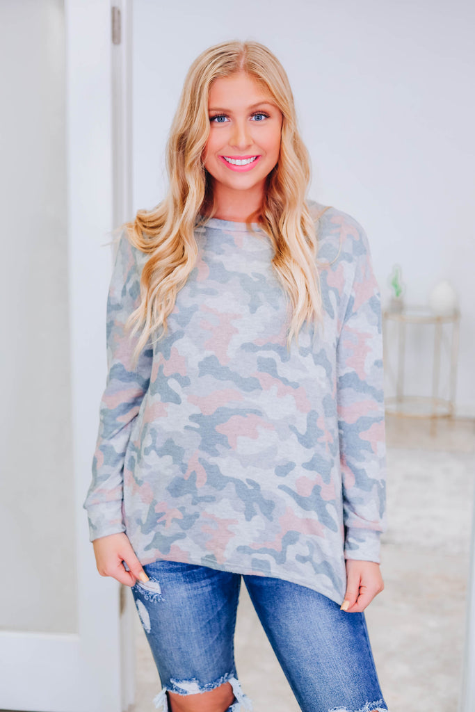 Think of Me Camo Top