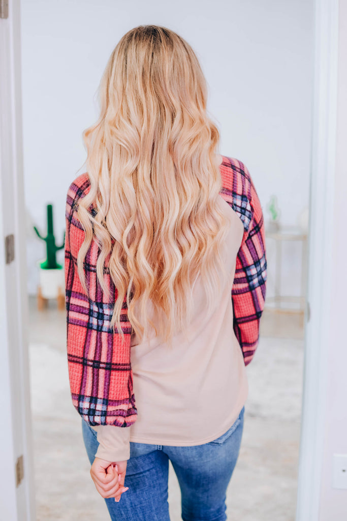 Feel This Way Plaid Top
