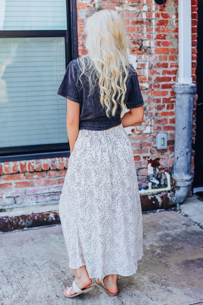 Stars To The Max Skirt - Ivory